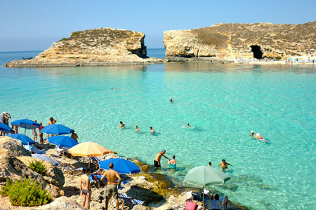 Blue Lagoon, comino, travel, Malta, Gozo. Photo credit: Dealsmalta.com