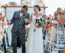 Natural, Chic Wedding With A Touch of Boho