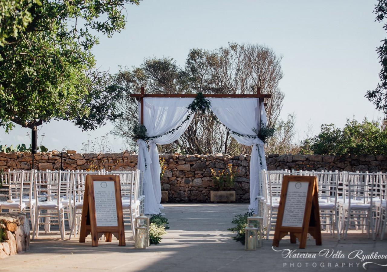 Natural chic boho wedding Malta Event Design