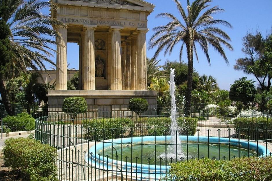 barracca garden valletta malta