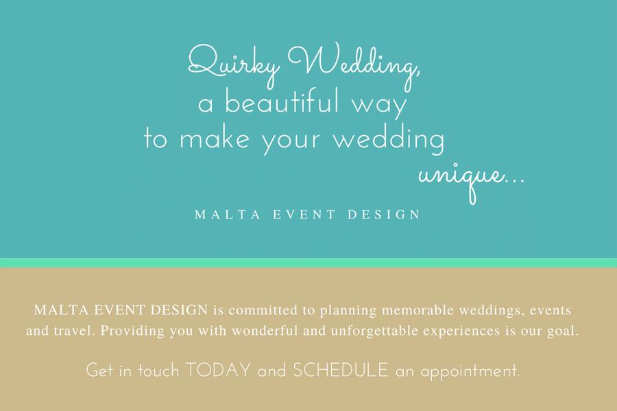 unique wedding planner malta