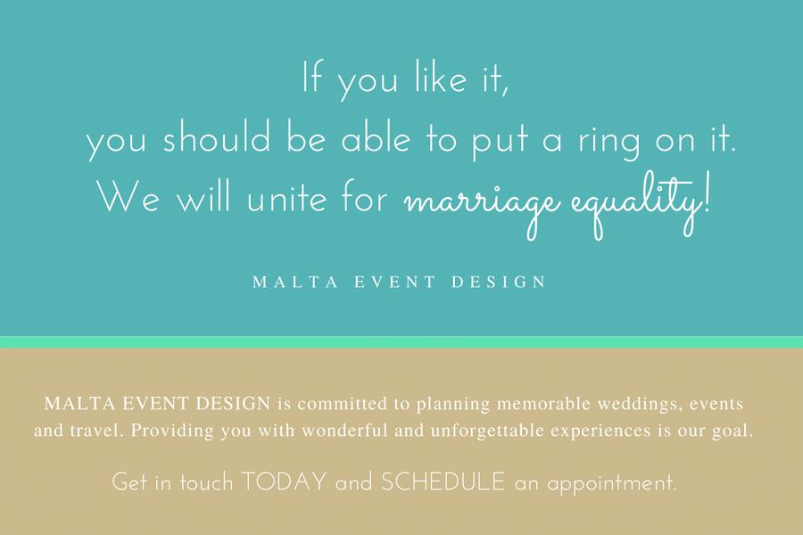 wedding planning, Malta, same-sex
