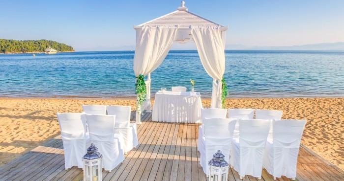 wedding setup malta beach