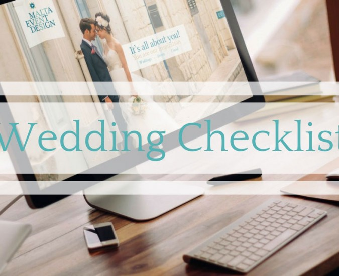How to implement your wedding checklist!